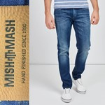 Mish Mash Hatch Stretch Jean - denim