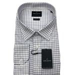 Boston 305-12 Business Shirt - white/blue check