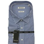 Boston 309-13 Business Shirt - blue stripe