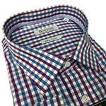 Boston 3731 Business Shirt - mauve check