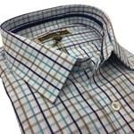 Savile Row 1861-05 Business Shirt - blue check