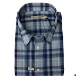 R M Williams Hervey S/S Shirt - navy/lt blue check