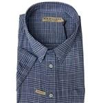 R M Williams Hervey S/S Shirt - white/blue check
