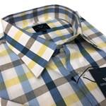 Cotton Valley 14410 S/S Shirt - lemon/blue