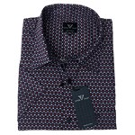 Cotton Valley 14420 S/S Shirt - burgundy/navy