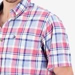 Swanndri Fergusson S/S Shirt - red/navy check
