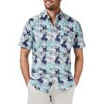Blazer Leo S/S Shirt - navy print