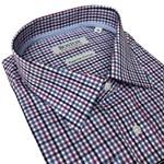 Boston 372745 Business Shirt - navy/pink check