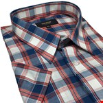 Cotton Valley 14287 S/S Shirt - navy/red check