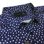 Frederick A 13015 S/S Shirt - navy print