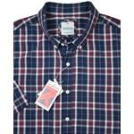 Gloweave 5130 S/S Shirt - burgundy check