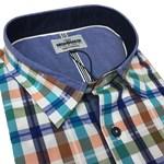 Mish Mash Oakham Shirt - blue/orange check