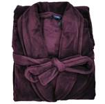 Espionage Fleece Dressing Gown - burgundy