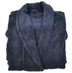 Espionage Fleece Dressing Gown - navy