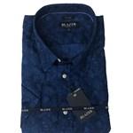 Blazer Nash Linen S/S Shirt - navy print