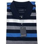 Blazer Wesley Mercerised Polo - blue/navy stripe