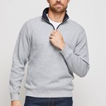 Blazer Heather 1/2 Zip Pullover - natural