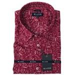 Blazer Martin S/S Linen Shirt - red