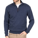 Blazer Heather 1/2 Zip Pullover - navy