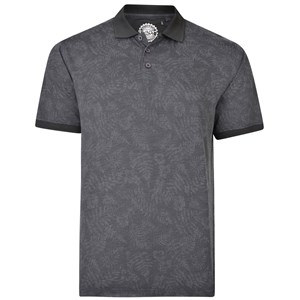 KAM Floral Print Jersey Polo