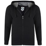 KAM Plain Zip Hoody - black