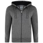 KAM Plain Zip Hoody - charcoal