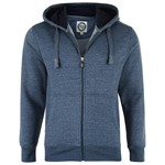 KAM Plain Zip Hoody - blue marle
