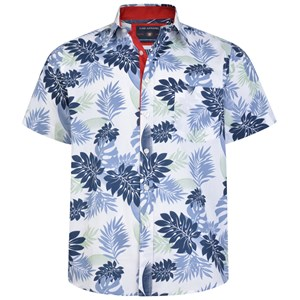 KAM Navy Hawaiian S/S Shirt