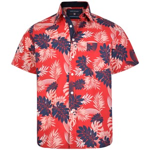 KAM Red Hawaiian S/S Shirt