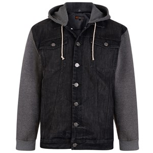 KAM Conte Denim Jacket with Hoody