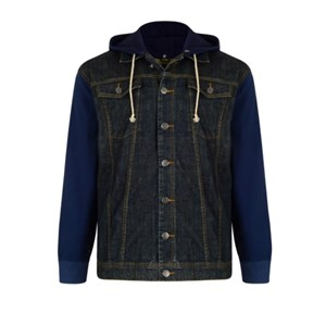 KAM Jose Denim Jacket with Hoody
