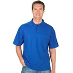 Fashion Biz Plain Pique Knit Polo - french blue