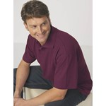 Fashion Biz Plain Pique Knit Polo - maroon